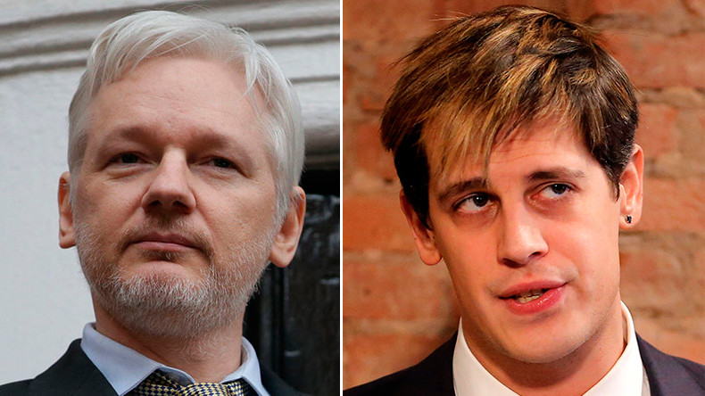 Assange blasts liberals' 'morality' over Yiannopoulos book deal axing
