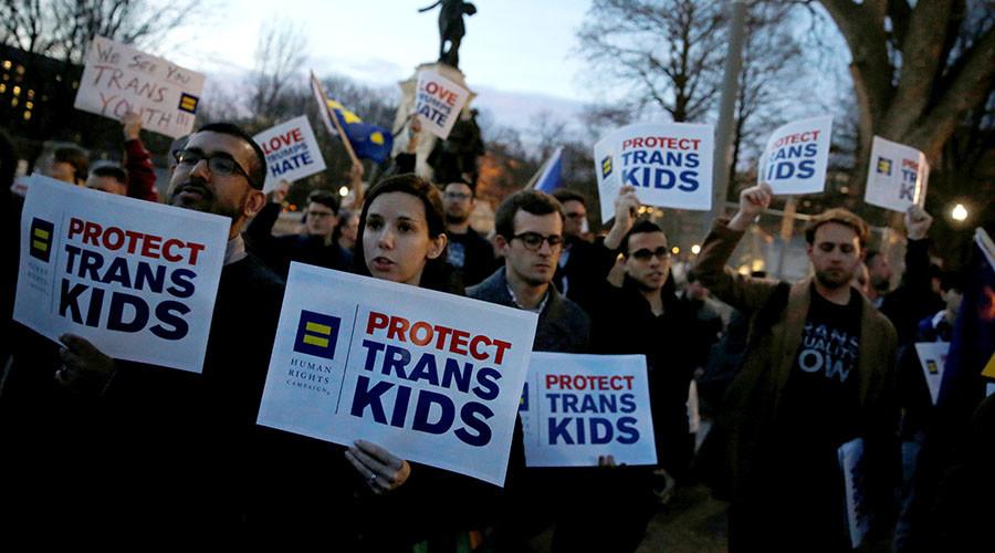 Protests erupt after Trump ends federal bathroom protections for transgender students