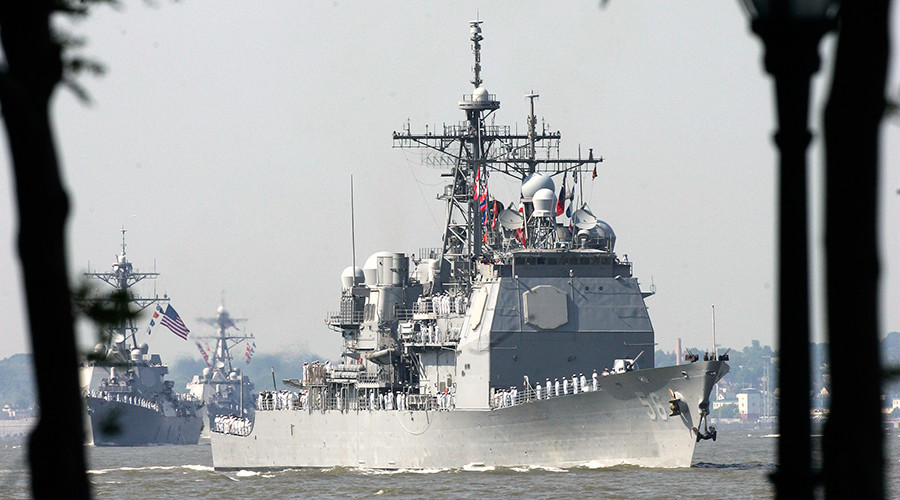 US guided missile cruiser visits Estonian port (VIDEO)