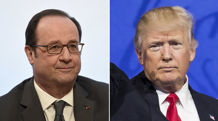 Hollande rebukes Trump following Paris remarks