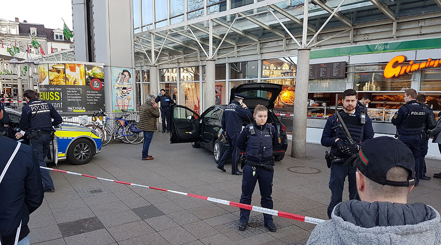 Man armed with knife drives into people in German city, kills 1, shot by police (VIDEO)