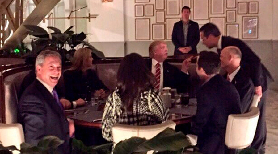 'Dinner with The Donald:' Farage boasts of cozying up to US president… despite getting no invitation