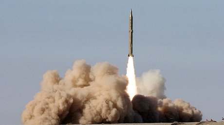 FILE PHOTO: An Iranian surface-to-surface missile © Fars news