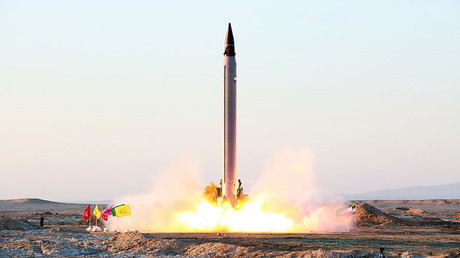 FILE PHOTO: Launch of an Imad missile, Iran. © HO / Iranian Defence Ministry
