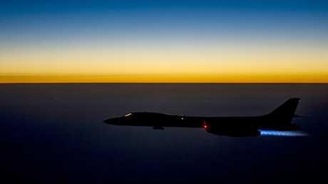 FILE PHOTO A U.S. Air Force B-1B Lancer supersonic bomber flies over northern Iraq after conducting air strikes in Syria © Reuters