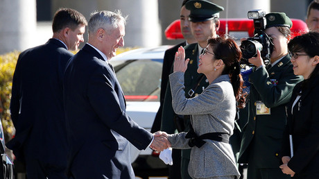 U.S. Defense Secretary Jim Mattis (centre L) and Japan's Defense Minister Tomomi Inada © Toru Hanai / Reuters