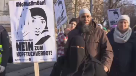 Thousands march against 'sexist & racist' burqa ban plan in Austria (VIDEOS)