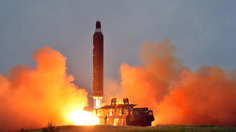 N. Korean test missile flies 500km, lands in Sea of Japan