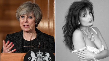 Britain's Prime Minister Theresa May (L) and Glamour model Teresa May © Facebook / Reuters