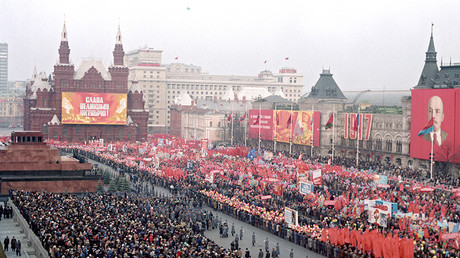 Celebrating the 69th anniversary of the Great October Socialist Revolution, 1989, Moscow © Sputnik
