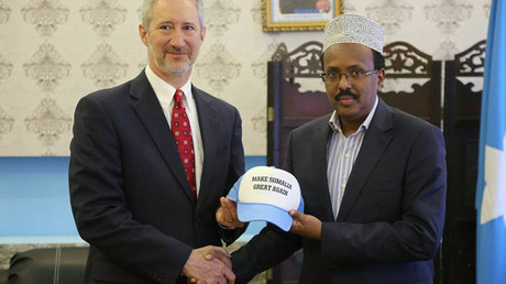 'Make Somalia Great Again!' US ambassador gifts new leader Trump-inspired hat