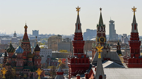 A view from the Hotel Moskva on the Kremlin. ©