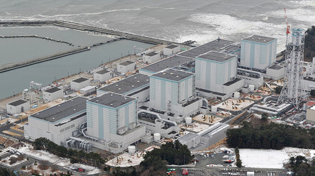 An aerial view shows Tokyo Electric Power Co.'s Fukushima Daini nuclear power plant. © Kyodo