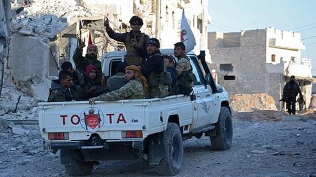 Turkish-backed Syrian rebels, Al-Bab on February 23, 2017 © Nazeer al-Khatib