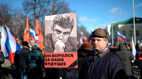 Participants in a march to commemorate Boris Nemtsov in Moscow, 26 February 2017 © Ilya Pitalev