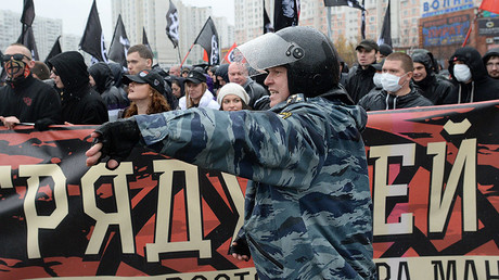A policeman during demonstration in Moscow. File photo. © Iliya Pitalev