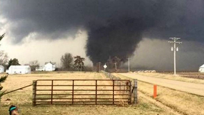 Tornado watch issued for central US as severe weather leaves 2 dead (VIDEO, PHOTOS)