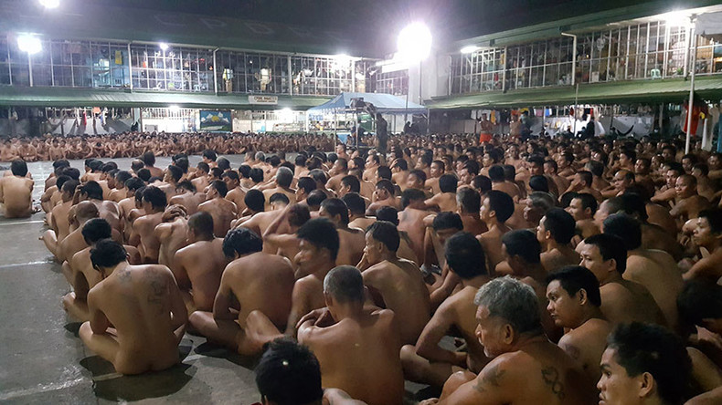 Images of Philippines prisoners sitting naked in contraband raid spark outrage (PHOTOS)