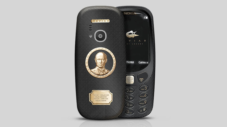 Golden Putin Nokia 3310 to hit market at 3,000% usual price