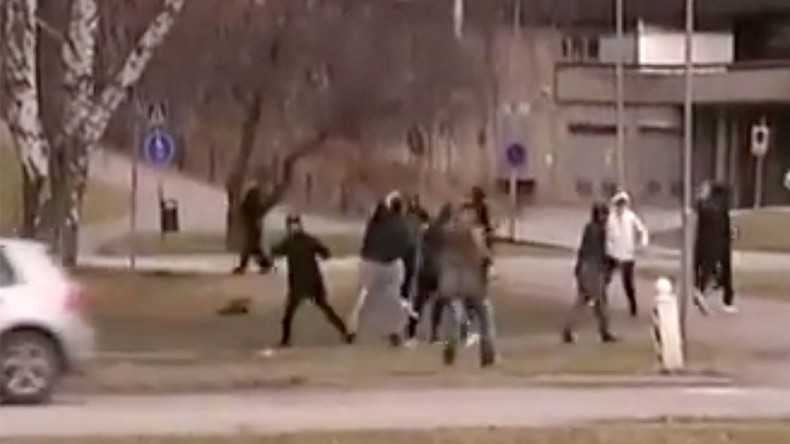 11 rioters arrested after hurling rocks at police and TV crew during Swedish school brawl