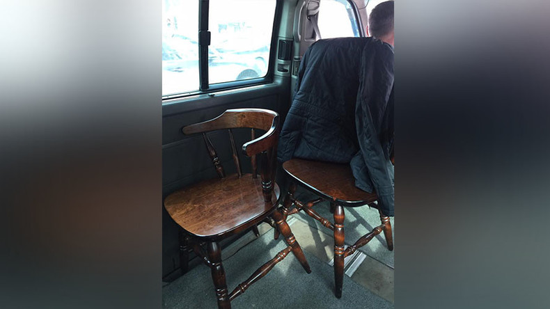 Uber ride with wooden chairs infuriates Kazakh client (PHOTOS)
