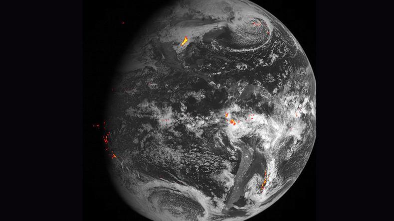 The Eye On The Storm NASAs Lightning Tracker Satellite - Satellite footage