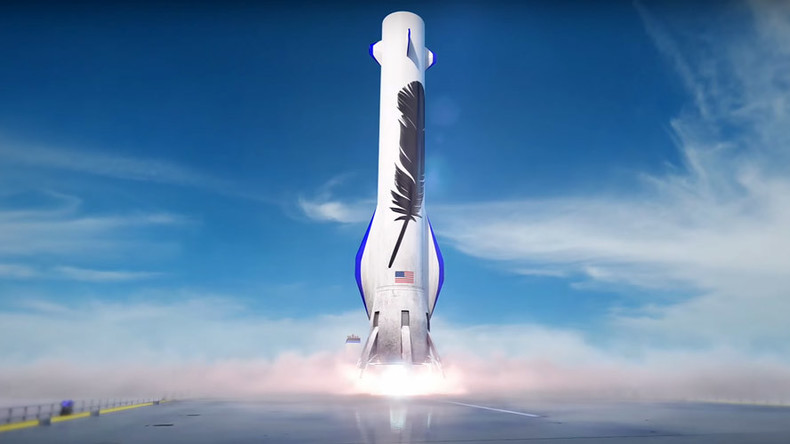 Amazon's Blue Origin rockets rekindle space race (PHOTOS, VIDEO)