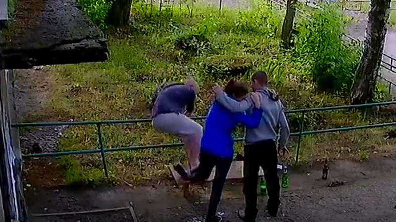 Those Russians Drunk Man Breaks Young Womans Leg After She Asks Him To Graphic -6624