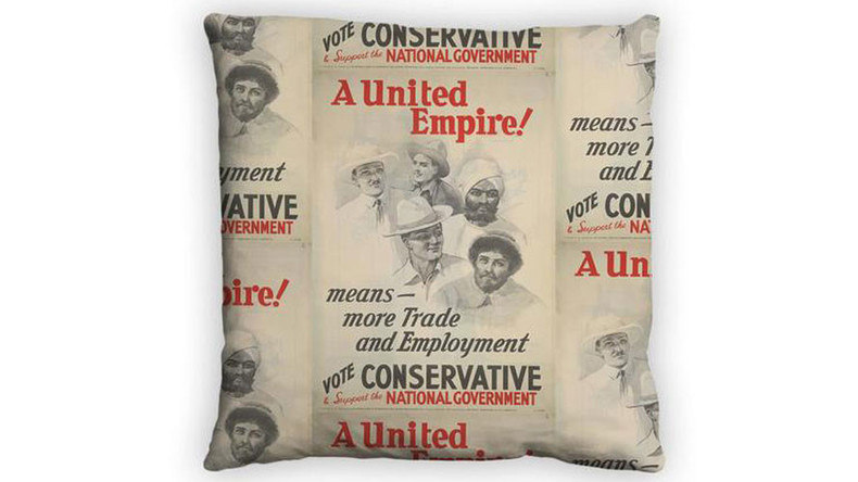 Empire state of mind: Tories sell imperialist themed feather cushion as official merchandise