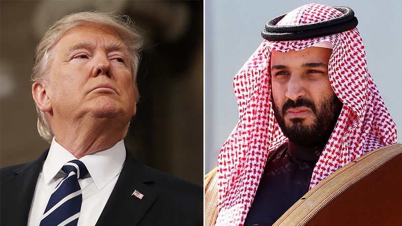 Saudi prince goes to Washington for Trump meet