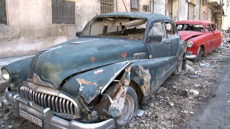 Vintage Aleppo car collector exhibits city's abiding spirit (VIDEO)