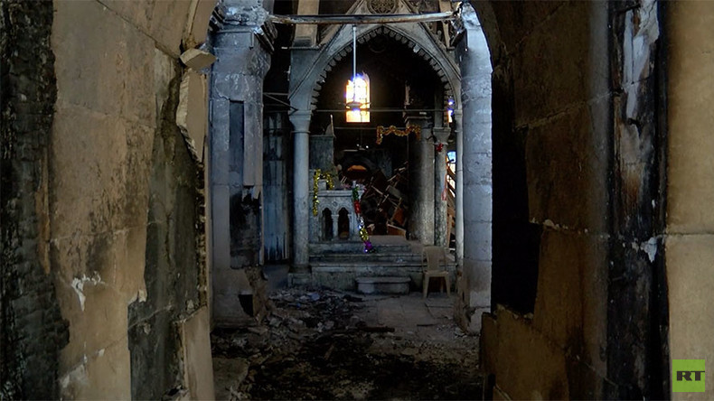 360° ghost town: Streets of Christian Iraqi town in ruins & empty (VIDEO)