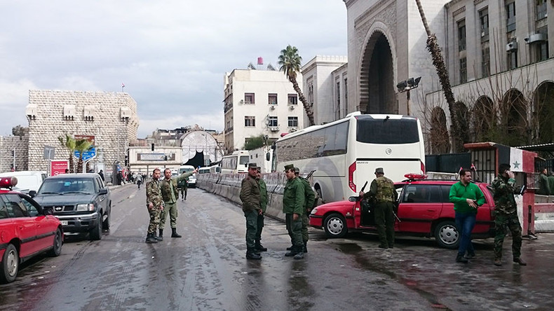 Dozens killed in suicide blasts at Justice Palace & restaurant in Damascus (GRAPHIC VIDEO)