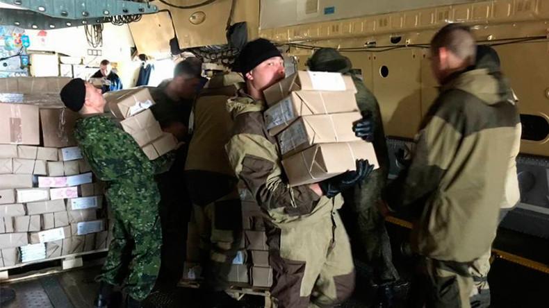 Russian humanitarian aid arrives in Yemen