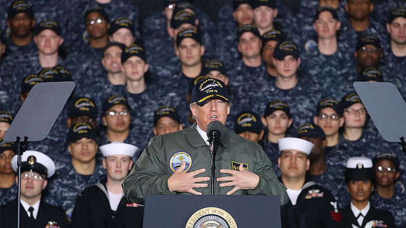 Trump dons 'full-metal-jacket' in embrace of war economy