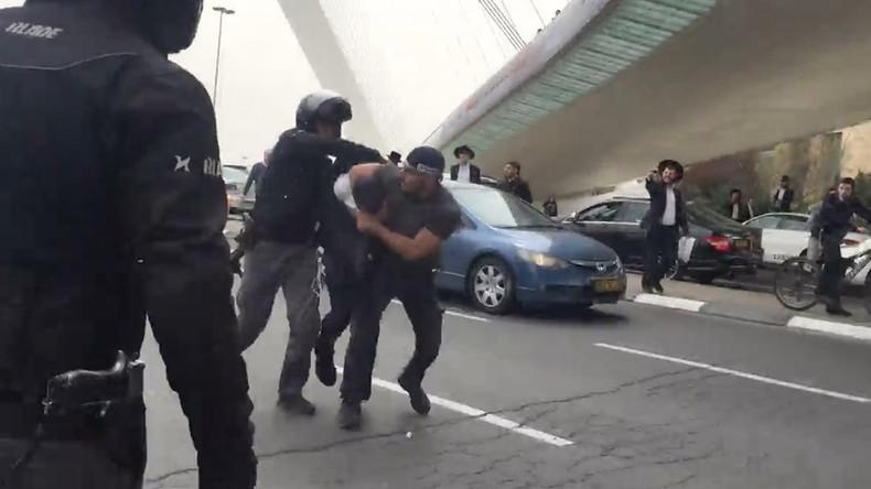 Fight erupts as ultra-Orthodox Jews try to disrupt Jerusalem Marathon (VIDEO)
