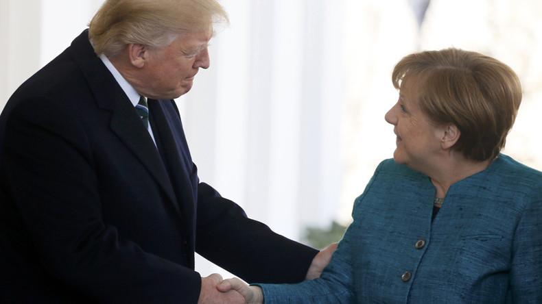 Trump applauds Merkel's 'commitment' to boost NATO spending