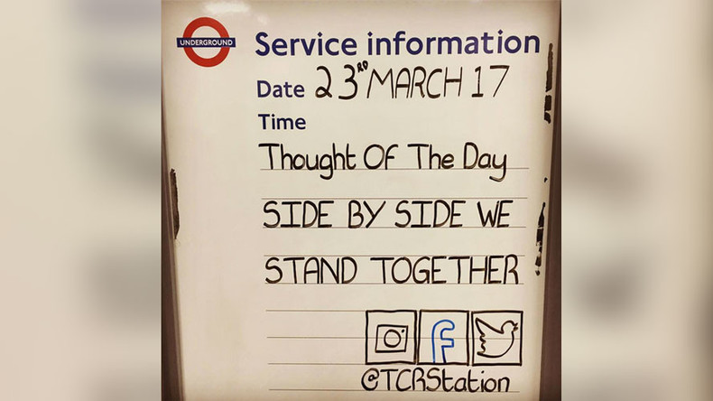 Tube announcements share messages of comfort to grieving Londoners