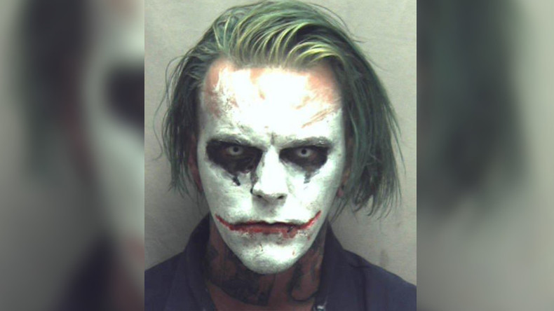 No laughing matter: Sword-wielding 'Joker' arrested in US faces up to 5yrs in prison (PHOTO)