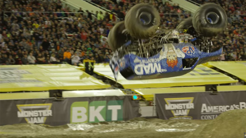 World first! US driver lands monster truck front flip (VIDEO