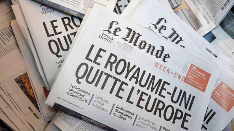 European press split by mockery & worry on Brexit Day