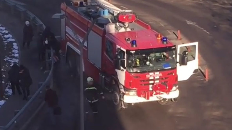 1 person killed, 4 seriously injured as fire truck hits bus stop near Moscow's Domodedovo airport