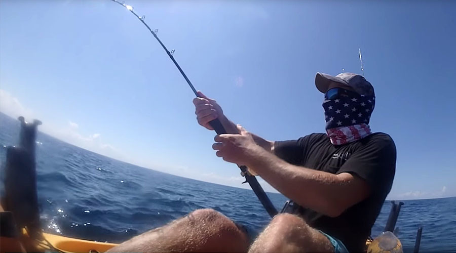 Awesome video shows giant marlin drag kayaker out to sea