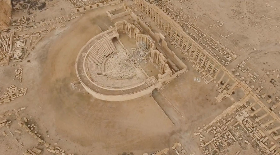Drone footage shows war toll taken on Palmyra's ancient center (EXCLUSIVE VIDEO)