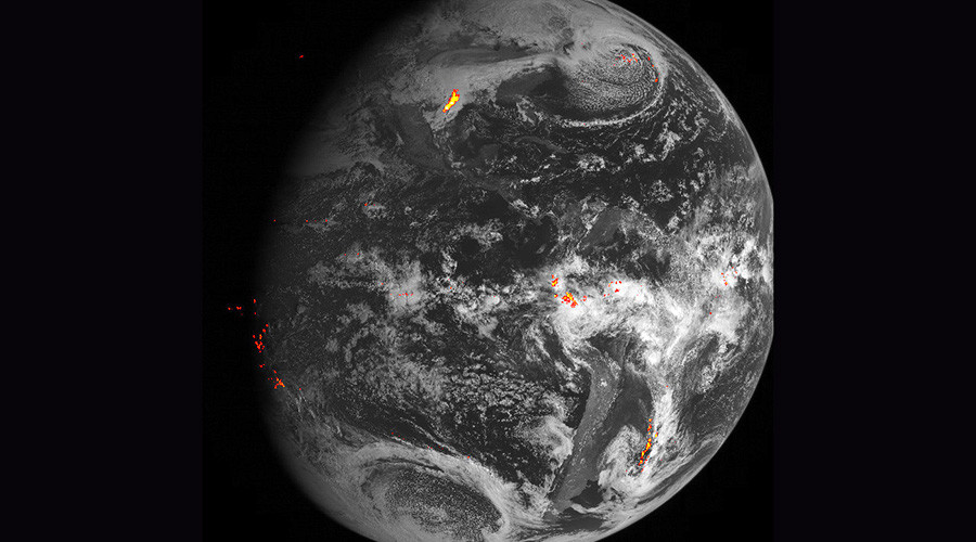 The eye on the storm: NASA's 'lightning tracker' satellite captures electrifying footage (VIDEO)