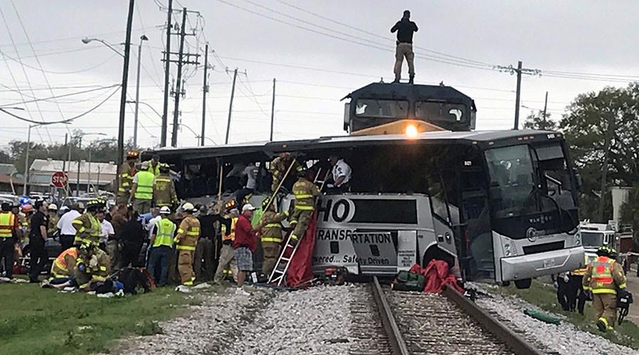 4 dead, dozens injured as train hits bus in Biloxi, Mississippi