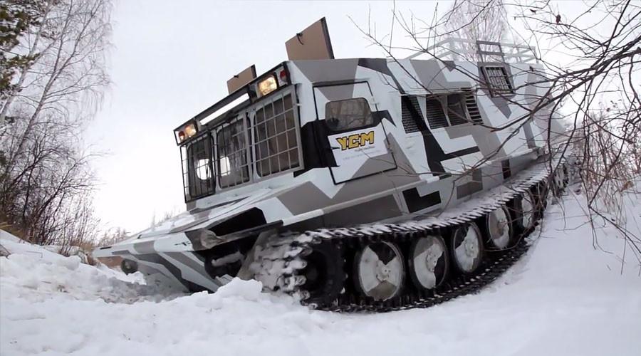 Siberian monster truck: New all-terrain vehicle tested near Chelyabinsk (VIDEO)