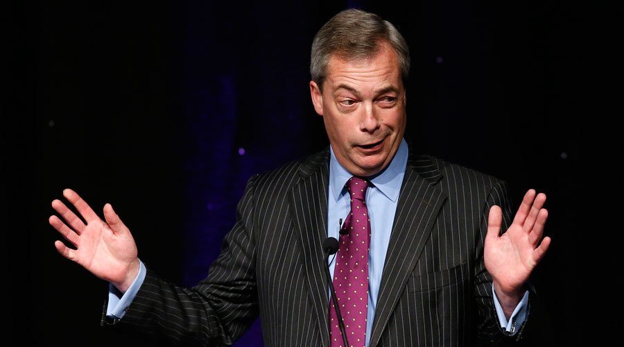 Nigel Farage spotted leaving Ecuadorian Embassy where Julian Assange is holed up