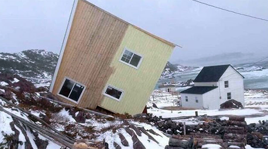 Hurricane force winds batter Newfoundland, rip off rooftops & damage vehicles (PHOTOS)