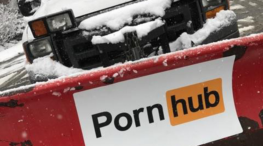 PornHub offers to 'plow your brains out' if snowed under for #StormStella (PHOTOS)